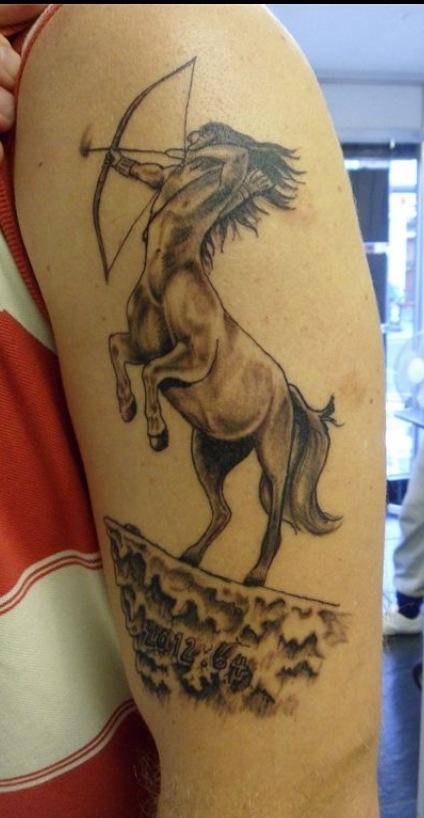 10 Sagittarius Tattoos On Half Sleeve