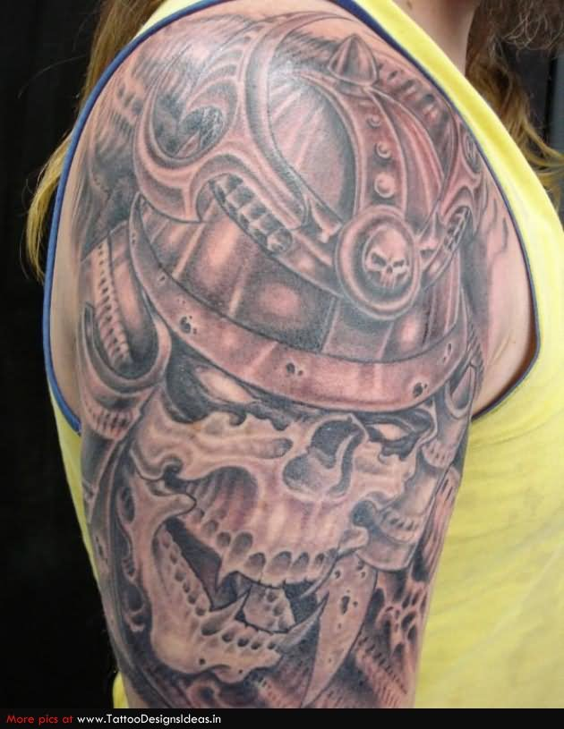 31 viking skull tattoo designs and images ideas for Viking sleeve tattoos