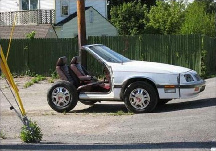 Half Two Seater Car Funny Looking Image