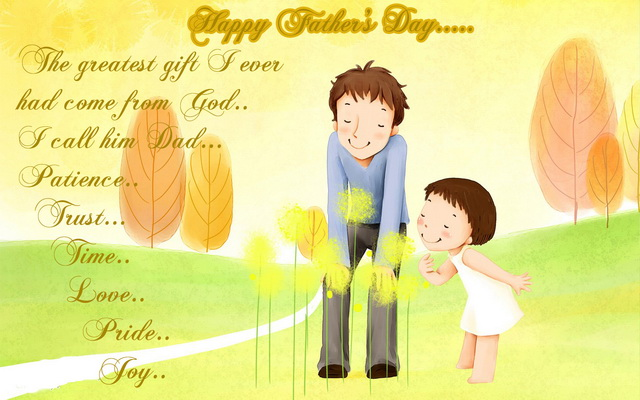 30 most beautiful fathers day greetings pictures and photos happy fathers day the greatest gift i ever had come from god i call him m4hsunfo