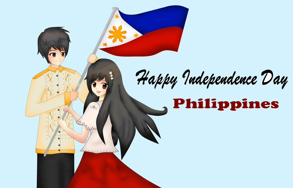 Happy Independence Day Philippines Anime Couple