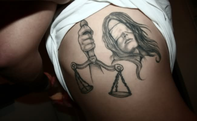 Scales Of Justice Tattoo Design