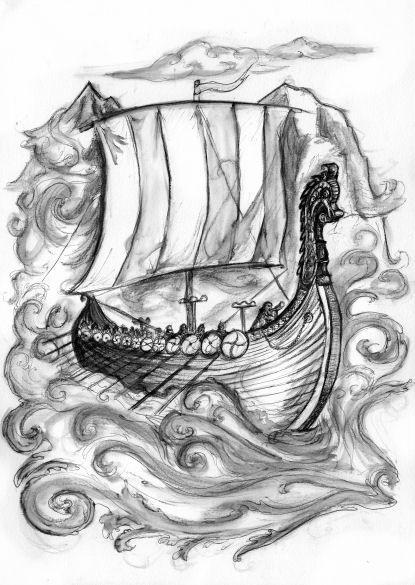 30+ Incredible Viking Ship Tattoos