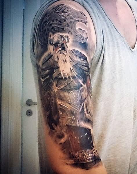 30 Incredible Viking Ship Tattoos