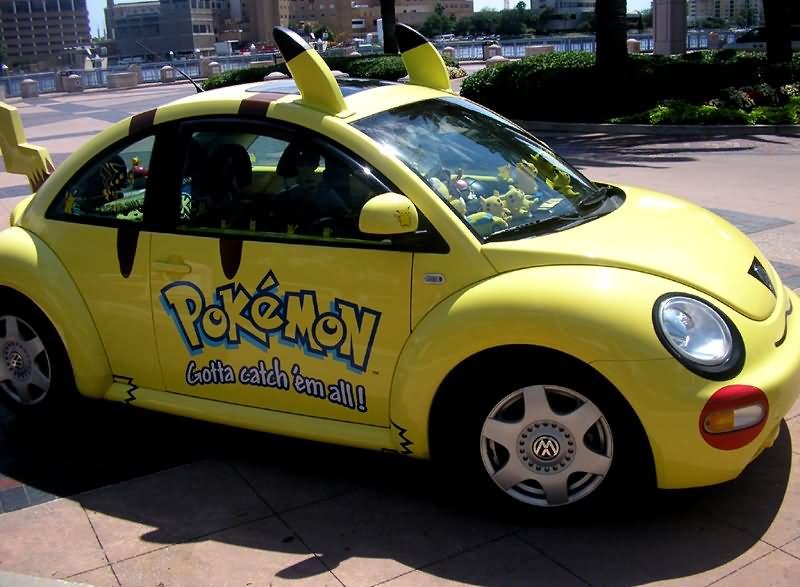 Pokemon Shape Car Funny Looking Image