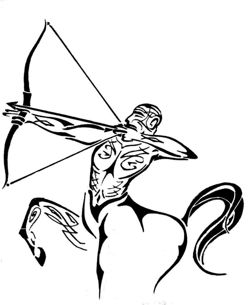 Tribal-Tattoos Sagittarius-Tribal-Tattoo-Design