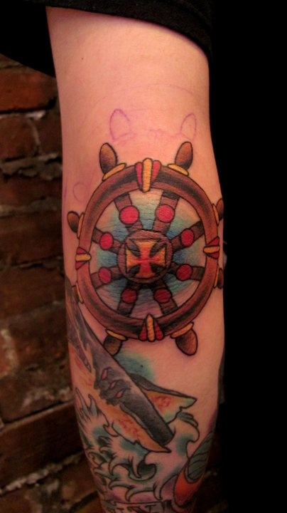 showing 1st image of The Good Old Luck Tattoo 37+ Traditional Elbow Tattoos Ideas