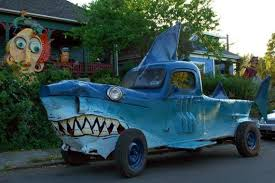 Weird Car Looking As Shark Funny Image