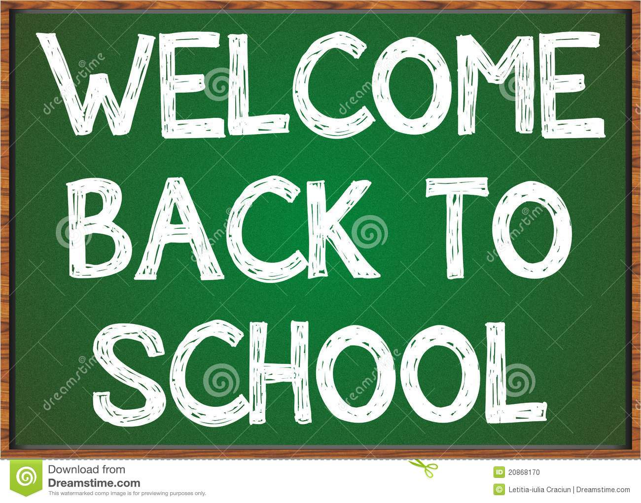 Welcome Back To School Black Board