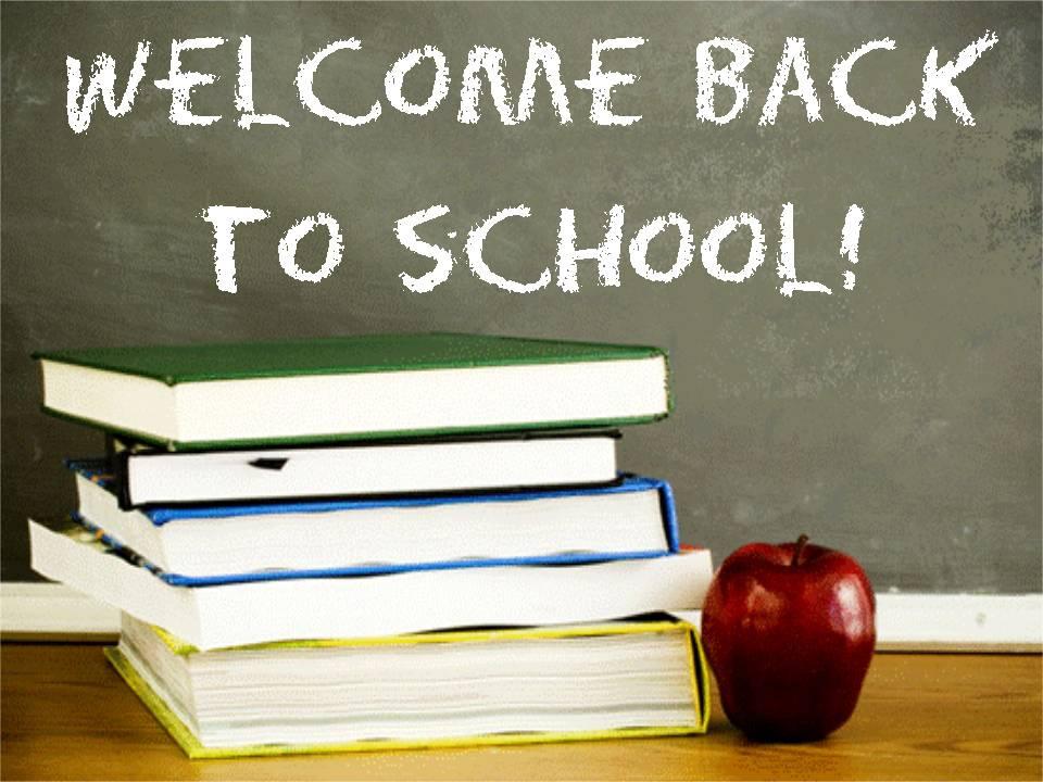 Welcome Back To School Written On Black Board