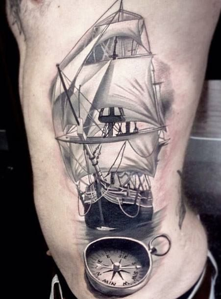 29 beautiful sailor ship tattoos. Black Bedroom Furniture Sets. Home Design Ideas