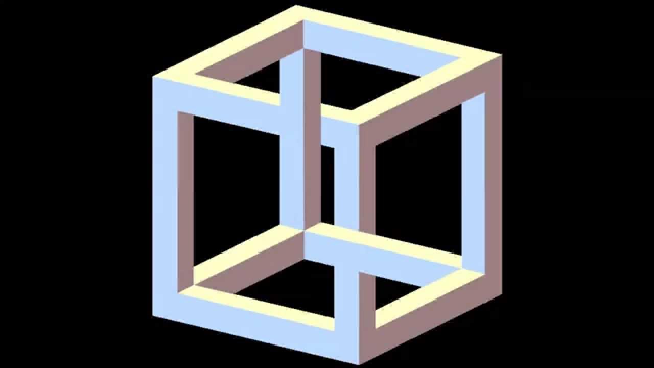 optical illusion illusioni ottiche impossibile box 3d cubo quadrato most face capogiro cubi arte adorable lezioni elementari