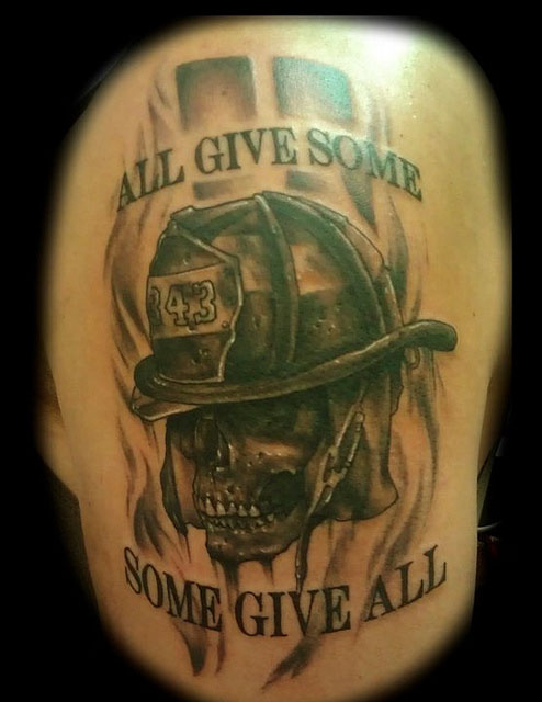 19 firefighter tattoo designs and ideas. Black Bedroom Furniture Sets. Home Design Ideas