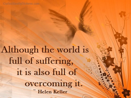 Although The World Is Full Of Suffering It Is Also Full Of