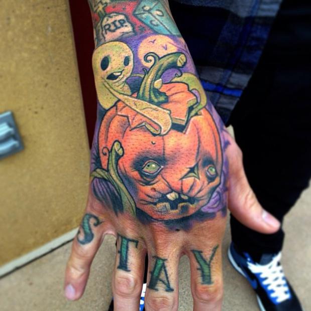 Traditional Halloween Cat Tattoos