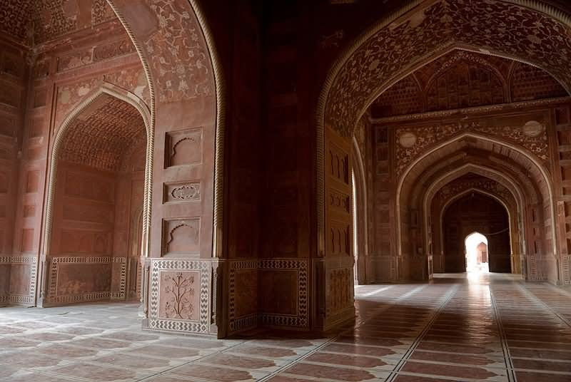 Arches Inside The Taj Mahal