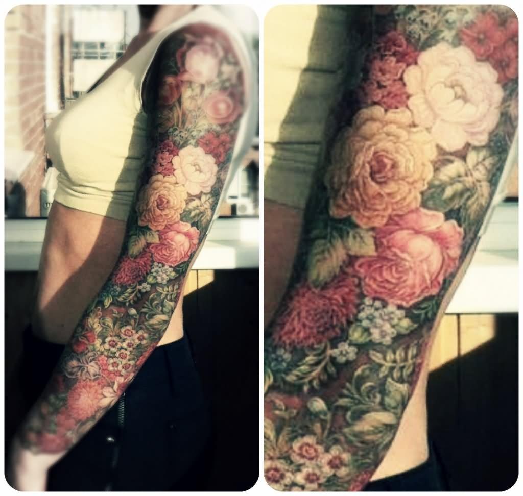 32 Nice Floral Tattoos