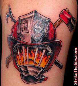 24 awesome firefighter tattoos. Black Bedroom Furniture Sets. Home Design Ideas