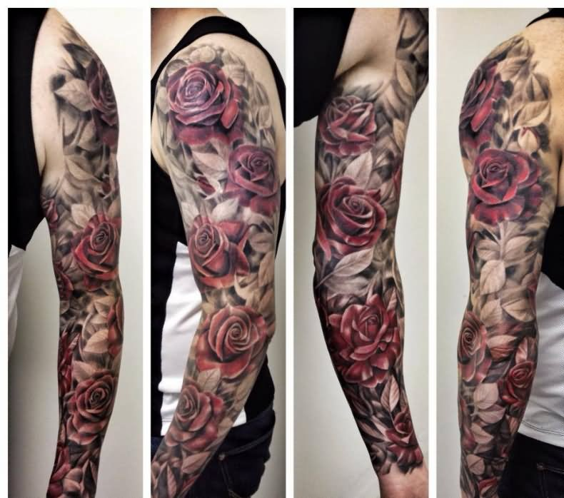 sleeve tattoos floral - photo #40