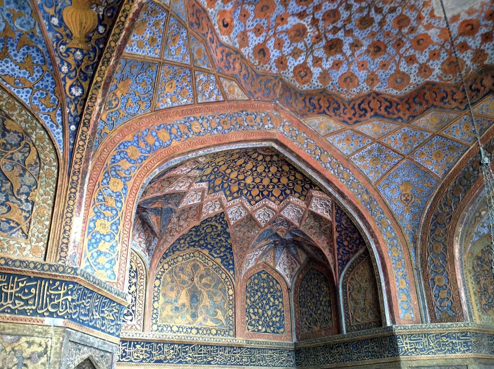 Beautiful Interior Decoration At Taj Mahal