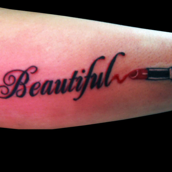 5 lipstick tattoos on sleeve. Black Bedroom Furniture Sets. Home Design Ideas