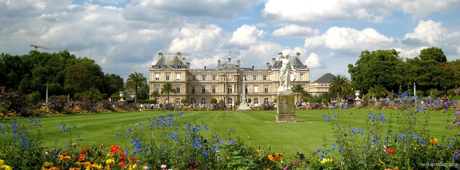 Beautiful panorama view of jardin du luxembourg paris for Au jardin paris