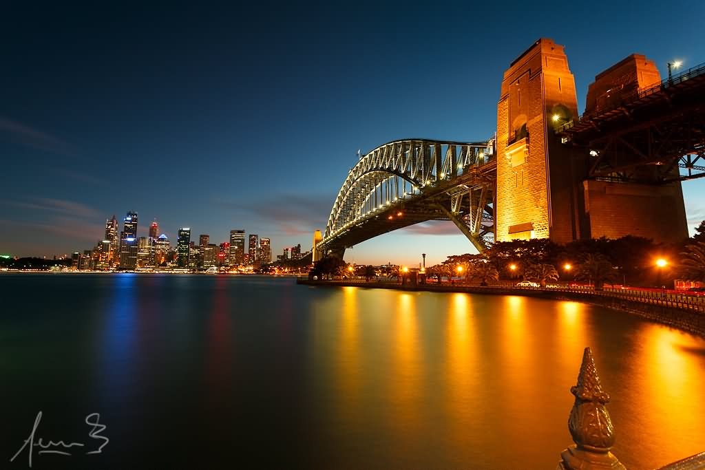 20 most incredible sydney harbour bridge at sunset images beautiful sunset view of sydney harbour bridge wallpaper altavistaventures Choice Image