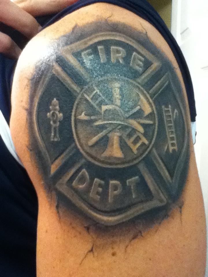 Firefighter Tattoo Designs: 29+ Firefighter Tattoos On Shoulder