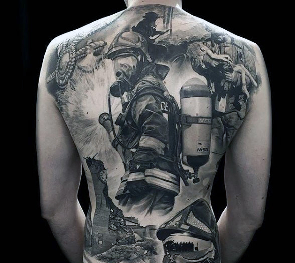 19 firefighter tattoo designs and ideas