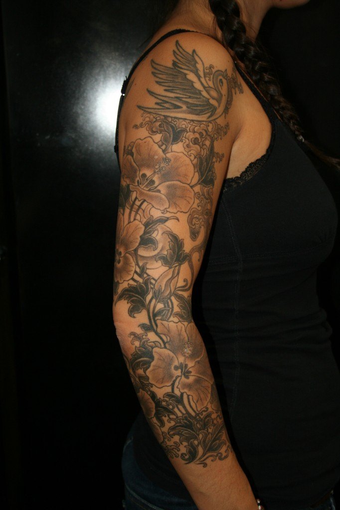 21 nice floral arm tattoos for Flower arm tattoos