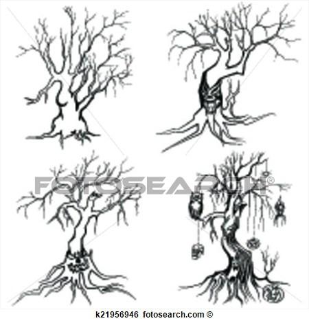 30 Wonderful Halloween Tree Tattoos Designs And Ideas