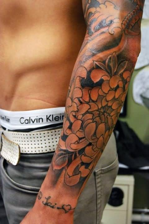 22 floral tattoos for men for Tattoo designs for male forearm