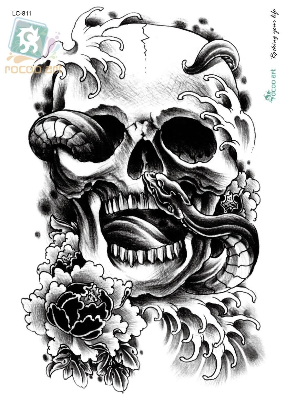 Snake Skull Tattoo: 29+ Best Halloween Tattoo Designs And Ideas