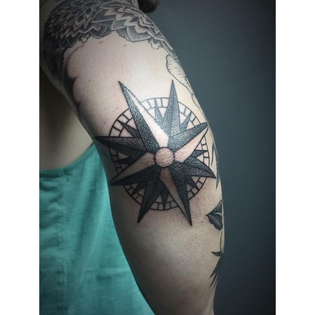 13+ Compass Elbow Tattoos