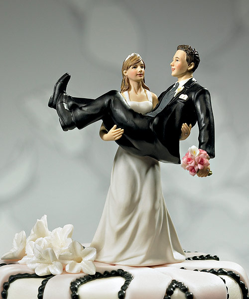 Bride Carrying Groom Funny Wedding Cake Picture For Facebook