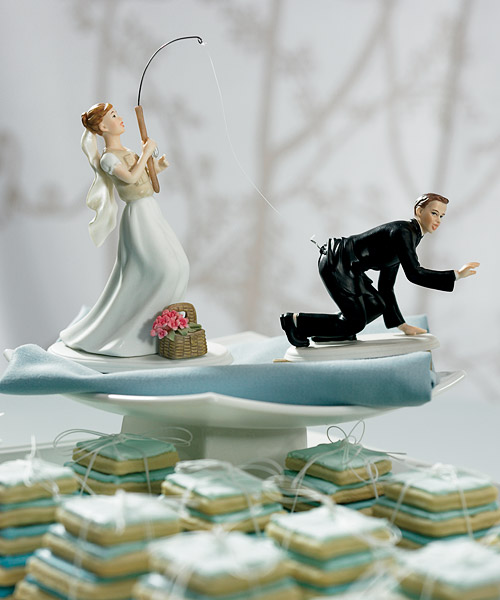 Bride fishing funny wedding cake image junglespirit Images