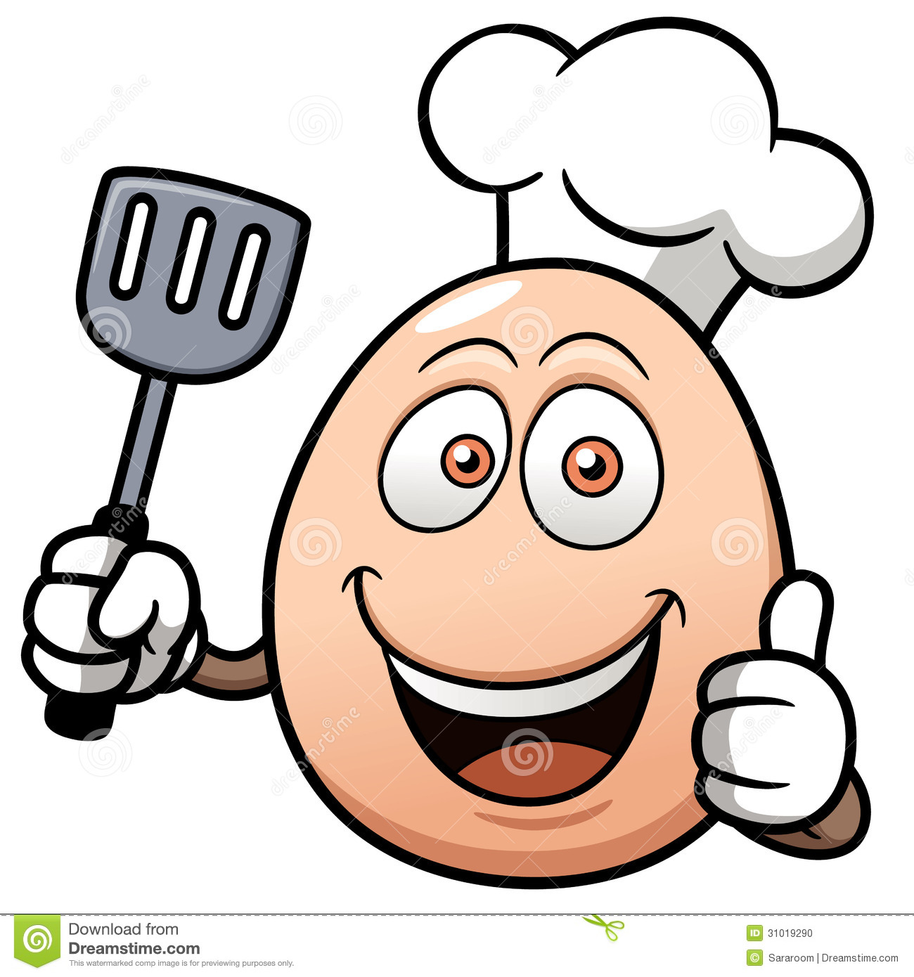 Cute Kitchen Ideas Chef Cartoon Egg Showing Thumb Funny Image