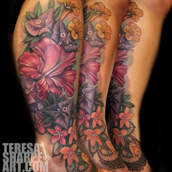 35 realistic floral tattoos. Black Bedroom Furniture Sets. Home Design Ideas