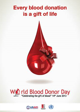 Donate blood world blood donor day every blood donation is a gift of life world blood donor day 14th june thecheapjerseys Image collections