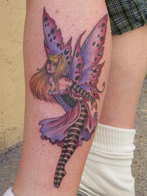 28 cool fantasy fairy tattoos. Black Bedroom Furniture Sets. Home Design Ideas