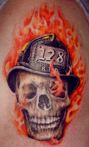 35+ Firefighter Helmet Tattoos