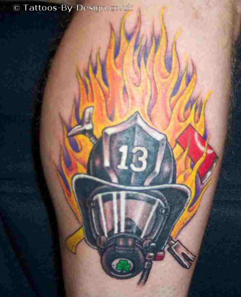 35 firefighter helmet tattoos rh askideas com black helmet firefighter tattoos Maltese Cross Firefighter Tattoos
