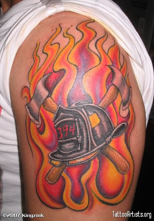 35 firefighter helmet tattoos. Black Bedroom Furniture Sets. Home Design Ideas