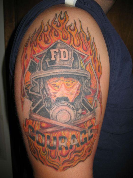 30 firefighter tattoos on sleeve. Black Bedroom Furniture Sets. Home Design Ideas