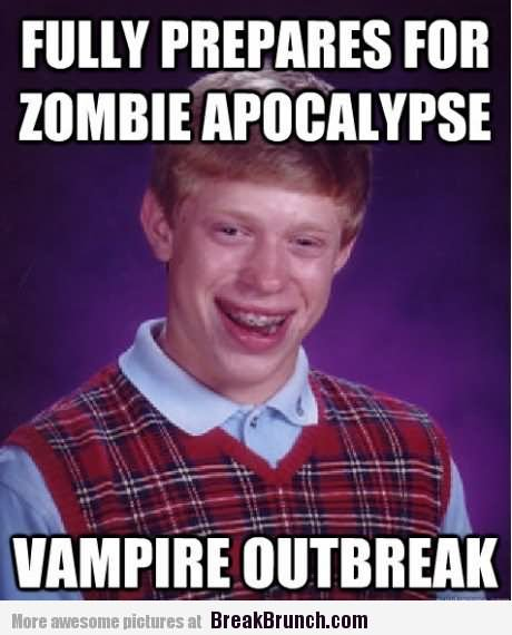Funny Memes About Zombies : Funny weapons for zombie apocalypse meme picture