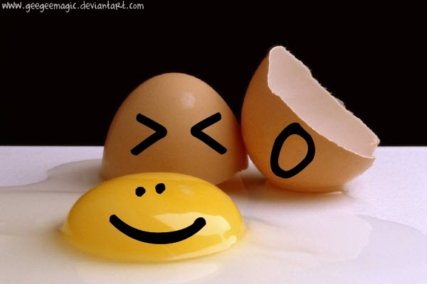 Cracked egg smiley pictures