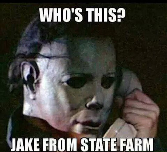 funny halloween jake from state farm meme image