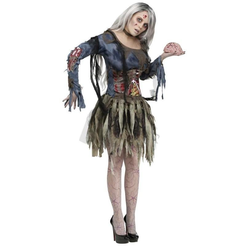 Girl In Zombie Costume Funny Picture  sc 1 st  Askideas.com & 30 Most Funniest Zombie Costume Pictures Of All The Time