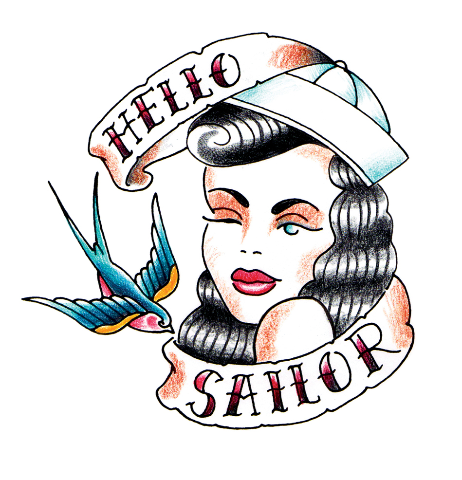 27 best sailor tattoos for Sailer jerry tattoo