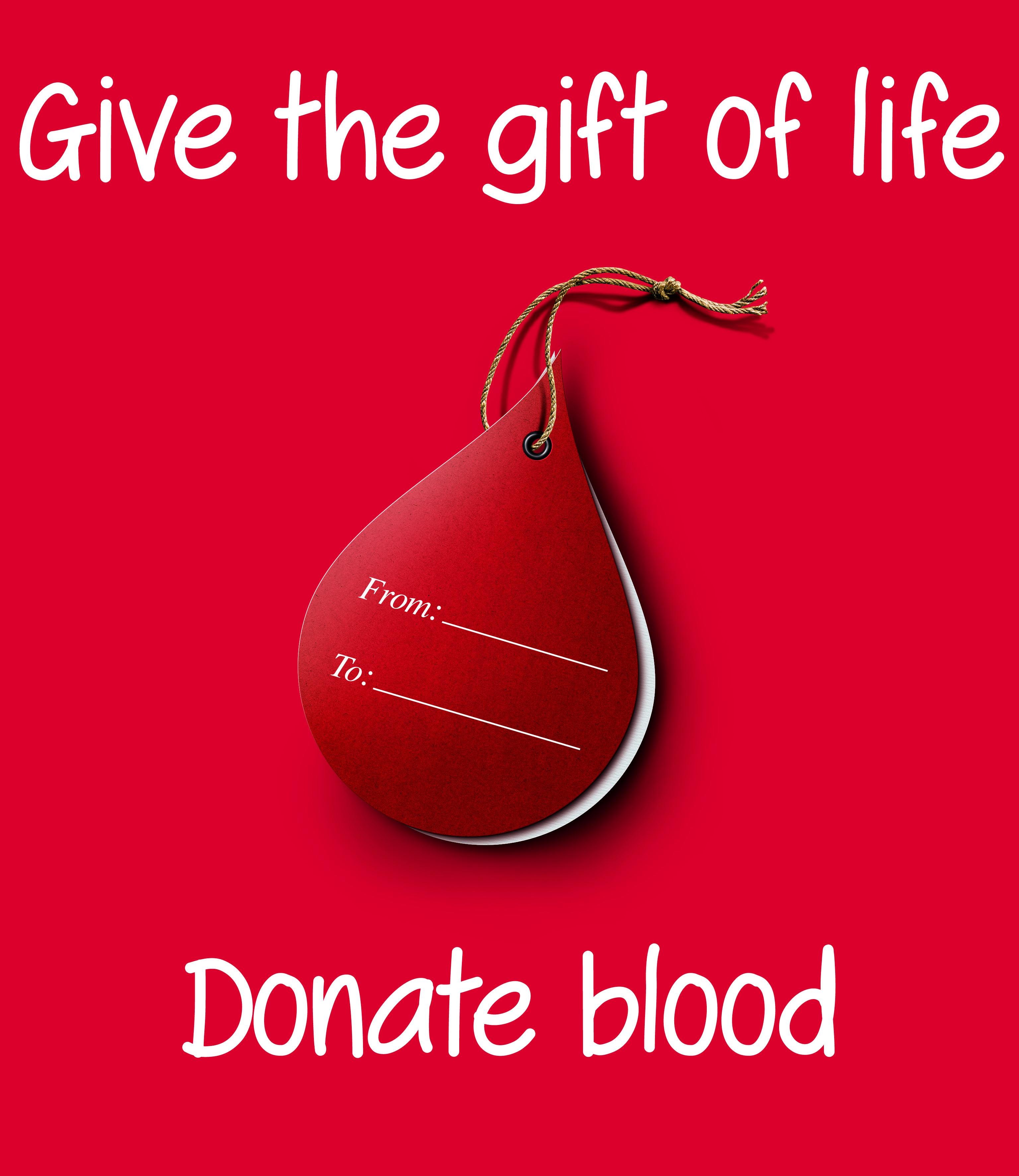 Give the gift of life donate blood world blood donor day greeting card m4hsunfo